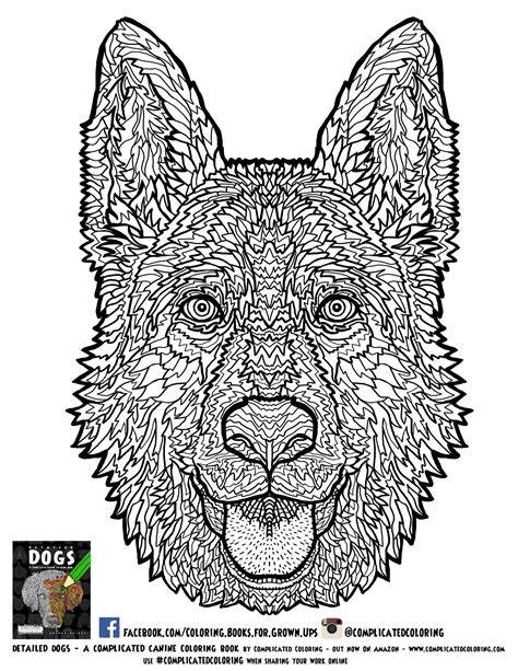 coloring pages of dogs for adults complicated coloring detailed coloring books for grown