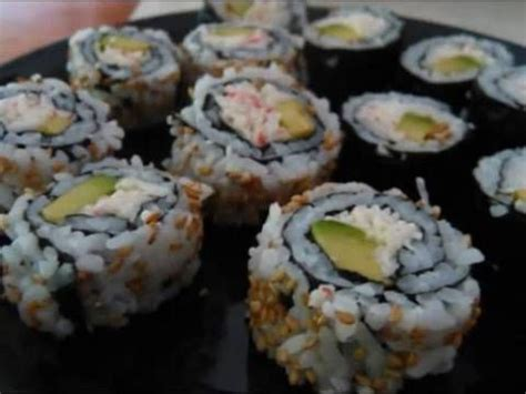 futon roll sushi sushi california rolls both inside and outside roll