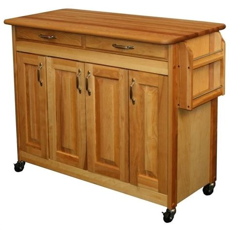 catskill craftsmen kitchen island 44 inch butcher block kitchen island 54220