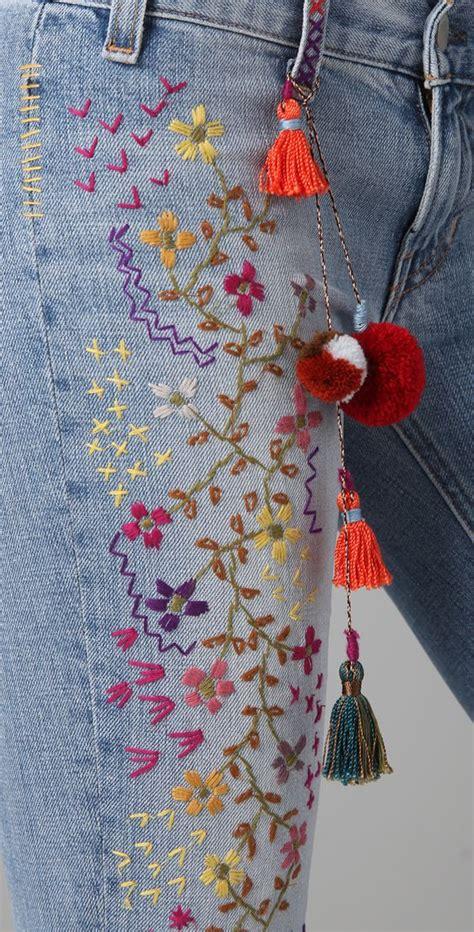 hand embroidery  denim ideas craft community