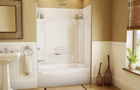 small 4 piece bathroom designs one piece shower units with seat shelves and tub ideas