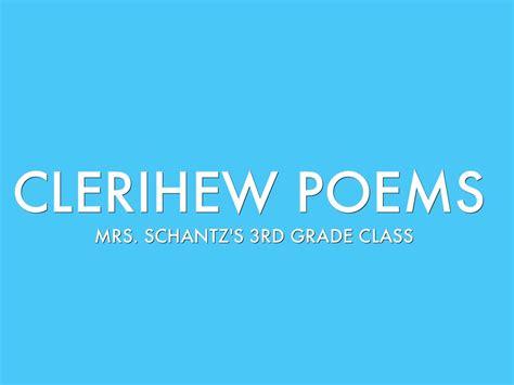 Clerihew poems