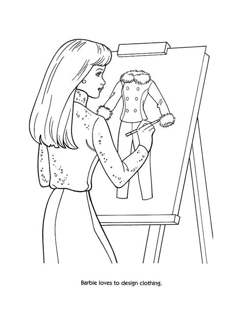 coloring pages barbie fashion coloring pages barbie