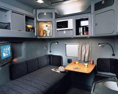 Sleeper Inside View by Big Rig Cab Interior With Sleeper Semi Tractor Truck
