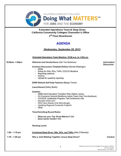 operations meeting template search results for agenda for a meeting calendar 2015