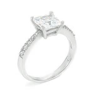 sterling silver princess cut 1 25 ctw cz
