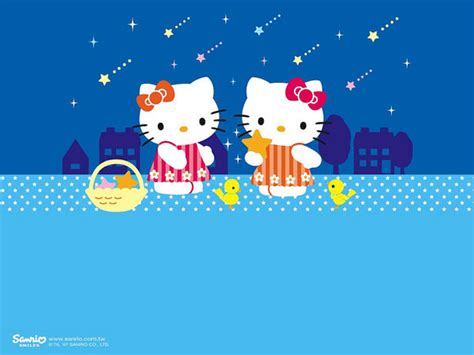 hello kitty wallpaper color blue 55张可爱的hello kitty桌面壁纸 创意悠悠花园