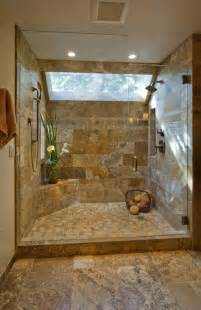Formidable Carrelage Sol Et Mur Salle De Bain #1: carrelage-travertin-salle-de-bain-elegante-douche.jpg