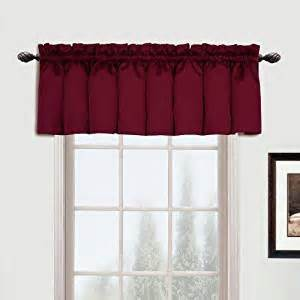 Burgundy Curtains With Valance United Curtain Metro Woven Valance 54 By 16 Inch Burgundy Home Kitchen