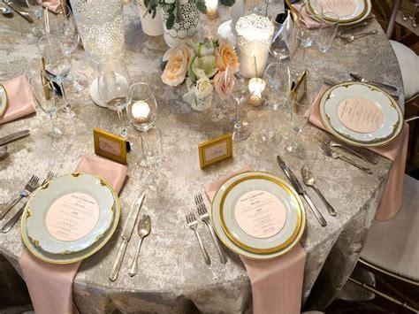 BBJ Linen   Birch Gold, silver, blush, ivory tablescape