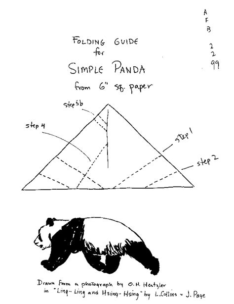 How To Make A Paper Panda - origami animals