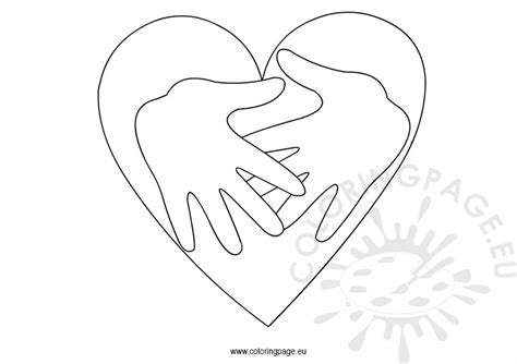 Free Coloring Pages Of Two Hands