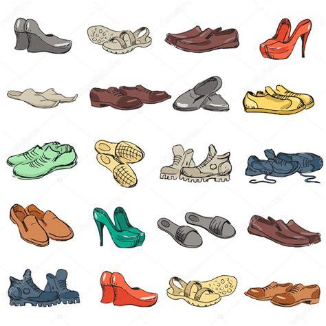 descargar sapatos mano dibujar varios tipos de calzado diferentes en vector