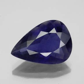 Violet Zircon 10 15 Ct blue iolite 5 1 carat pear from madagascar and