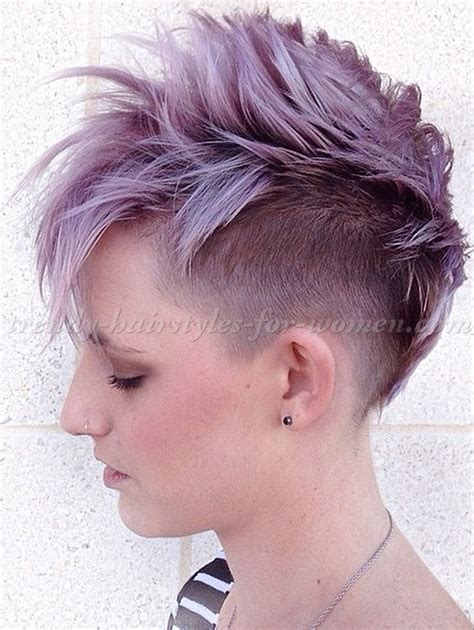 faux hawk hairstyles for women over 40 asymmetrical short hair undercut hairstylegalleries com