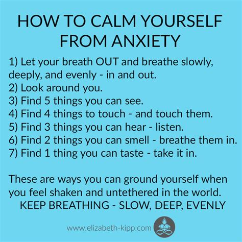 how to calm your how to calm yourself from anxiety elizabeth kipp