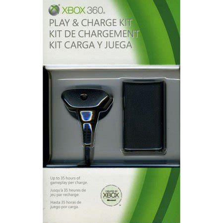 microsoft xbox 360 play charge kit xbox 360 walmart