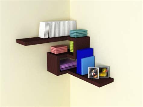 4d corner shelf designs