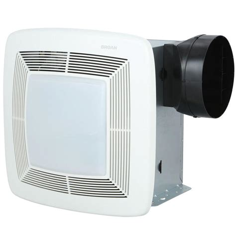 bathroom exhaust fan with light and nightlight broan qtx series very quiet 80 cfm ceiling exhaust bath