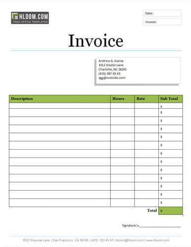25 free service invoice templates billing in word and