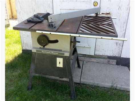 rockwell model 9 table saw table saw rockwell beaver 9 inch 1 hp motor