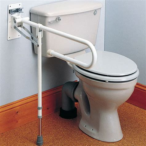 bathroom aids for disabled economy folding toilet support rail with leg toilet