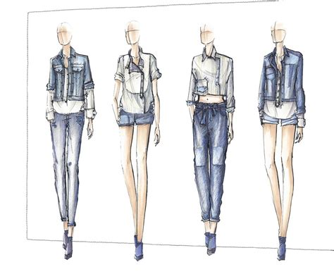 fashion illustration denim denim sketches search fashion illustrations sketches search