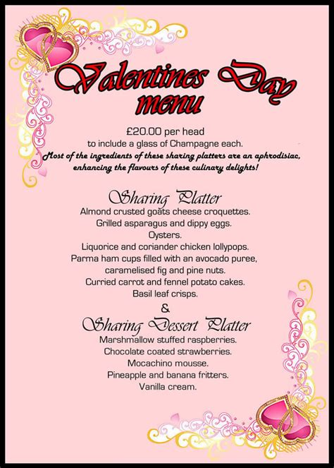 day restaurant ideas valentines menu ideas how to read blood pressure readings