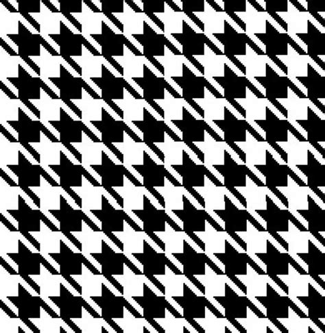 black and white houndstooth pattern easy two color knitted mock houndstooth pattern