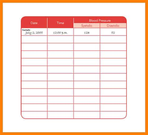 daily medication chart template 17 blood pressure log free word step up to