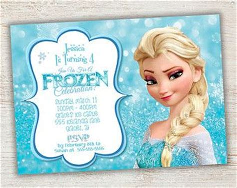 printable elsa invitations 17 best images about frozen party on pinterest