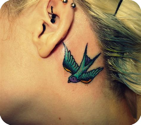 behind the ear tattoos images 22 of the cutest the ear tattoos collegetimes