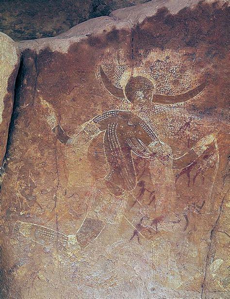 Drawing N Painting by Running Horned Tassili N Ajjer Algeria Smarthistory