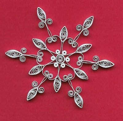 Quilling Ornaments Tutorial   picture of quilled snowflake patterns