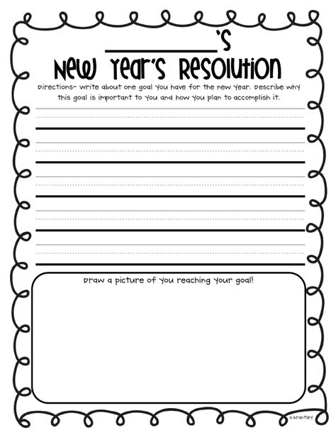 new year template printable for grade december 2011