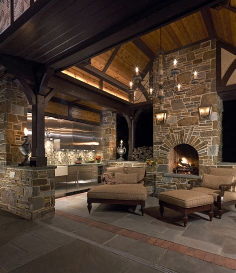 outdoor cooking spaces any information about the wall sconces above the fireplace