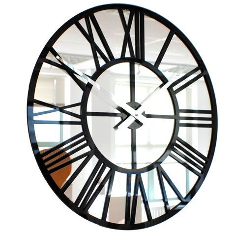 Clocks And Mirrors Roco Verre Acrylic Gloss Mirror Skeleton Clock