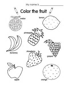 Galerry fruit coloring pages esl