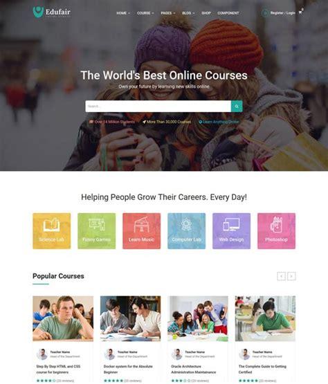 90 best education website templates free premium