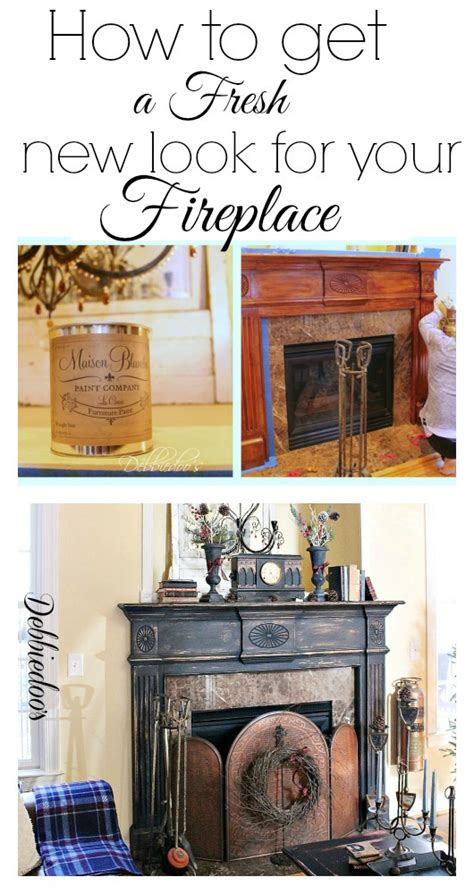 How To Paint Fireplace Surround by Painting The Fireplace Surround Debbiedoo S