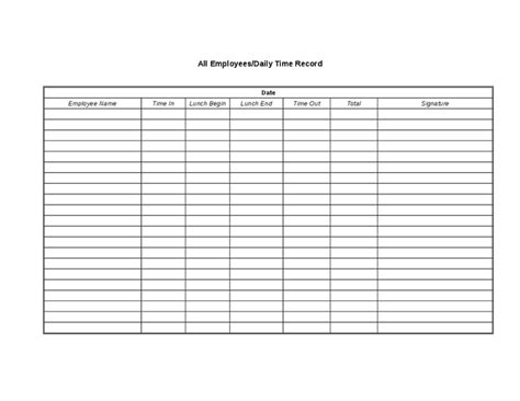 employee time tracking template time sheets for tracking employee s hours worked hashdoc