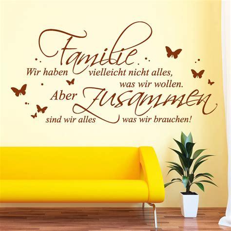 Familie Schriftzug by Schriftzug Familie Alles Was Wir Brauchen Wandtattoo