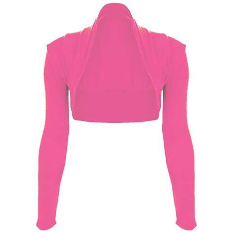 Aeb Knit Longsleeve Top womens open front bolero plain cropped top