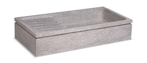 lavello in graniglia lavello in graniglia levigata grigio art103 cm 100x50x20h