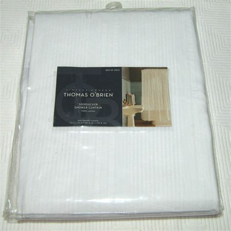 thomas o brien curtains laundered thomas o brien seersucker white stripe fabric