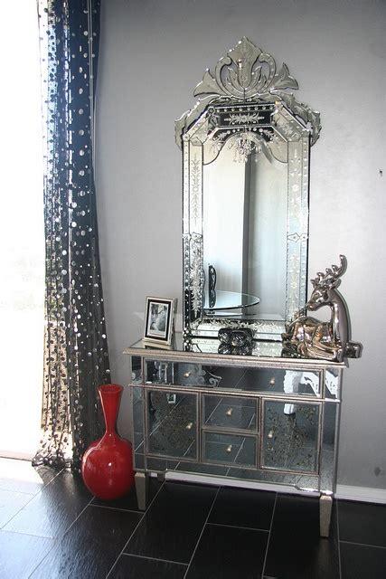 hollywood glam mirror nightstand  diva rocker glam