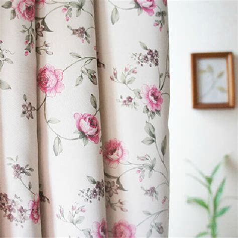 good quality floral pink shabby chic curtains blackout