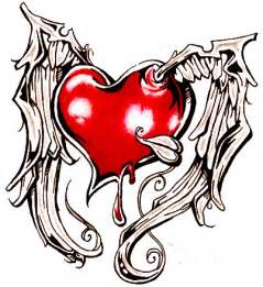 how to draw a broken heart with wings clipart best