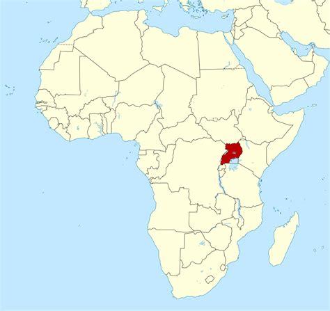 uganda on world map large location map of uganda in africa uganda africa