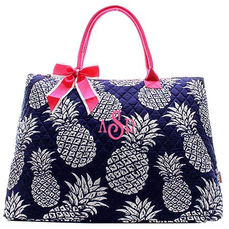 embroidered tote bag pattern embroidered pineapple pattern tote bag